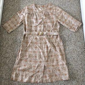 Vintage shift dress with belt